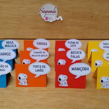 Plaquinha para Buffet - Snoopy