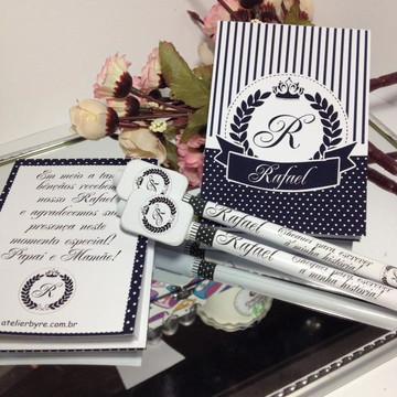 Kit bloquinho e caneta maternidade coroa