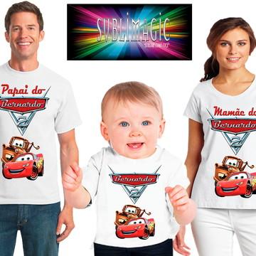 Kit 3 Camisetas Carros