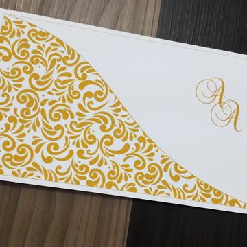 Convite de casamento - Convite 15 anos - Dourado