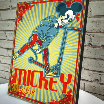 Poster / Quadro A4 Mickey