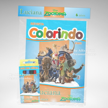 Kit Colorir Zootopia + Brindes