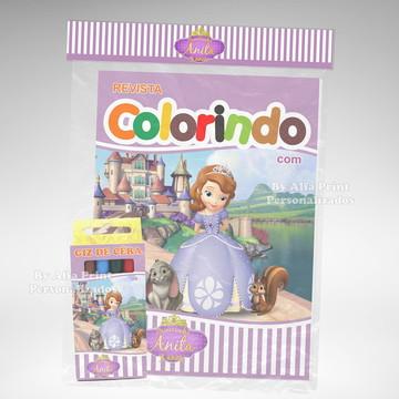 Kit Colorir Princesa Sofia + Brindes