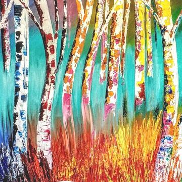 Quadro pintura abstrata OFERTA FRETE GRÁTIS