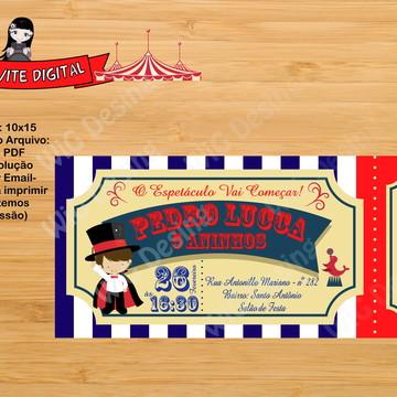 Convite Ingresso Digital Circo