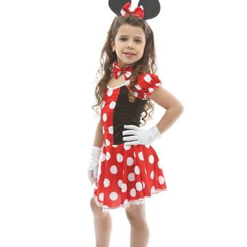 Fantasia Minnie Infantil Carnaval