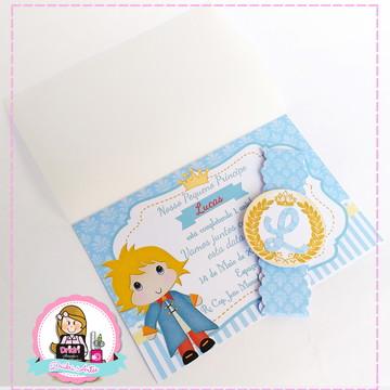Convite Luxo Pequeno Príncipe