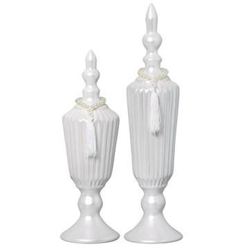 Par de vasos decorativos Perolados