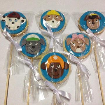 Pirulito biscoito- Patrulha canina