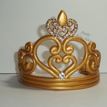 Topo de bolo Coroa dourada