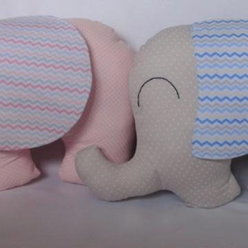 Almofadas Elefantinhos - Casal de Gêmeos