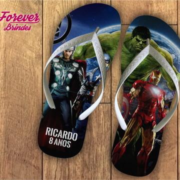 chinelo personalizado super herois