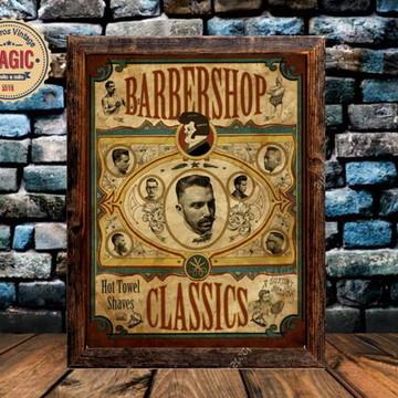Quadro Vintage Barber Shop Classic