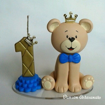Topo de bolo Urso príncipe