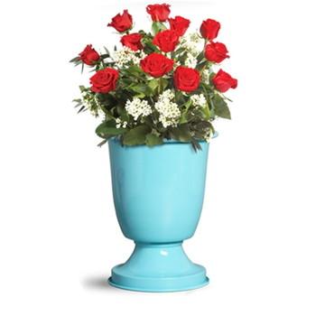Vaso tulipa M em aluminio