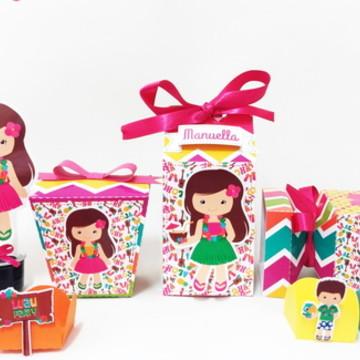 Kit Festa Infantil Luau