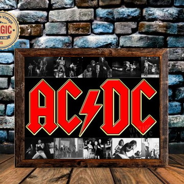 Placa Rústica ACDC