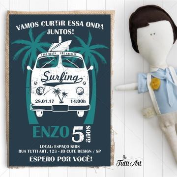 Convite Festa Surf - Digital