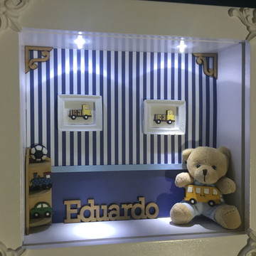 Porta maternidade menino LED