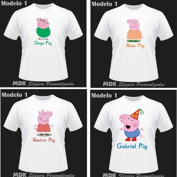 Camiseta Personalizada Familia Pig