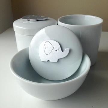 Kit Porcelana Elefantinho