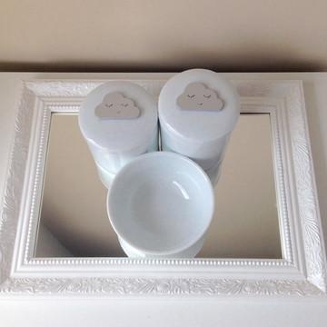 Kit Higiene Nuvem e Espelho