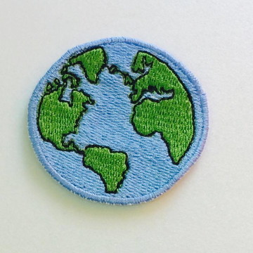 PATCH BORDADO PLANETA TERRA TERMOCOLANTE