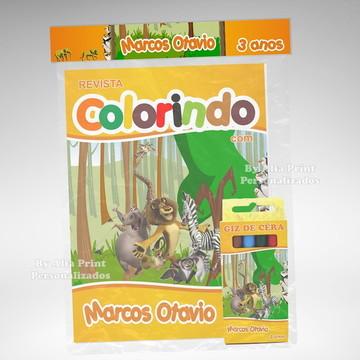 Kit Colorir Madagascar + Brindes