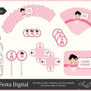 Kit Festa Digital - Bailarina