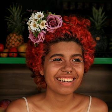 Acessório de flor para cabelo 028