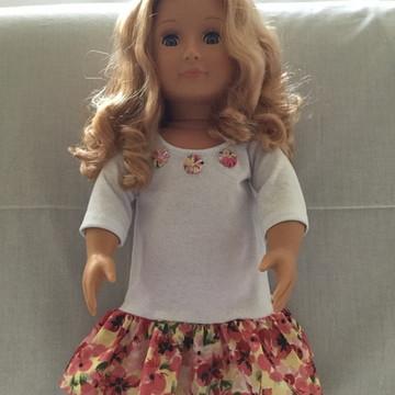 Vestido fuxiquinho/roupa de boneca