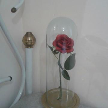Enfeite Rosa Redoma A Bela e A Fera