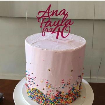 Topo de bolo personalizado- Nome e Idade