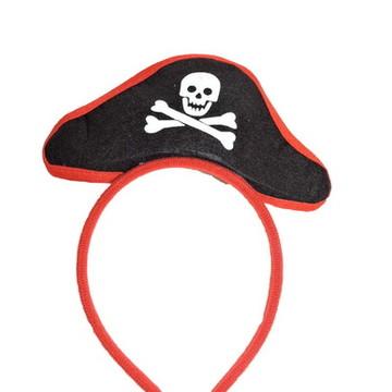 Tiara mini Chapeu Pirata Carnaval