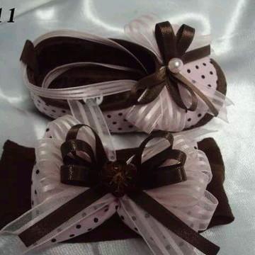Kit sapatilha e faixa