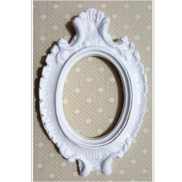Espelho Antique Com Moldura Em Resina