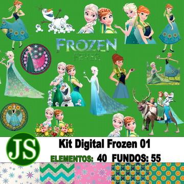 Kit Digital Scrapbook Frozen 01