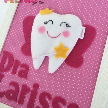 Quadro fada do dente personalizado