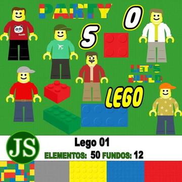 Kit Digital Scrapbook Lego