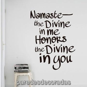 Adesivo de Parede Frase de Namaste