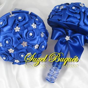 Buquê para Daminha Azul Royal