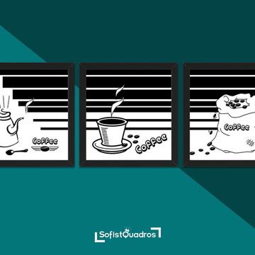 Quadros para cozinha - Coffee