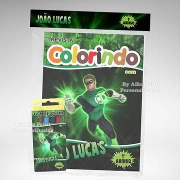 Kit Colorir Lanterna Verde + Brindes