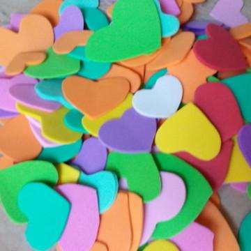 Recortes E.V.A. 1000 mini corações color