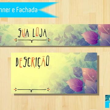 Kit Banner e Fachada Folhas Elo 7