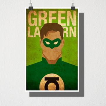 Poster A3 Green Lantern