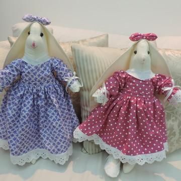 Coelha em tecido 100% algodão