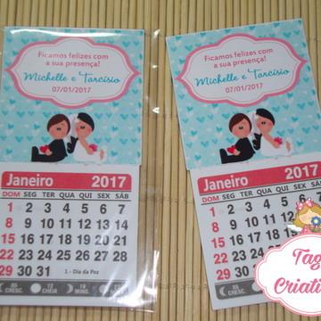 Calendário 2019 c/ imã Casamento