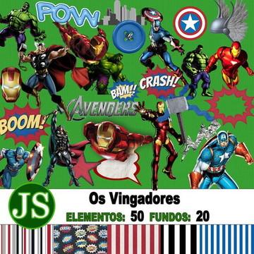 Kit Digital Scrapbook Vingadores