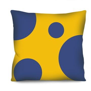 b2ba5754d6c287 Almofada Azul Amarelo   Elo7